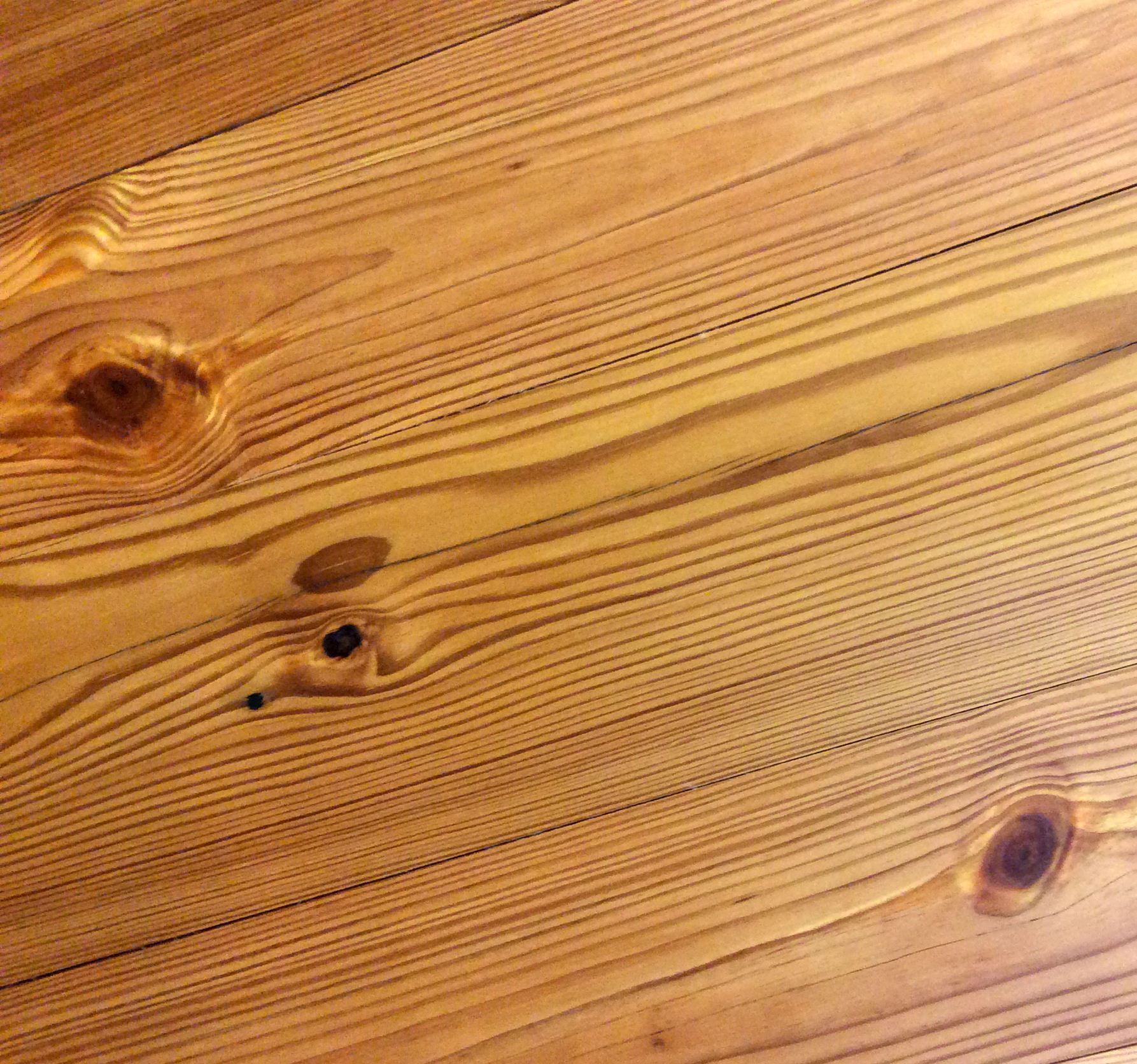 Reclaimed Premium Grade Long Leaf Heart Pine finished with a Tung Oil Finish