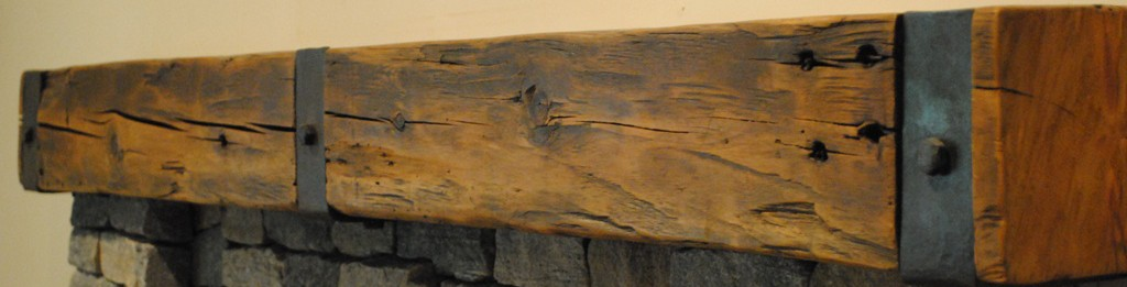 Reclaimed barn beams from 100 year old buildings of various sizes, colors and textres