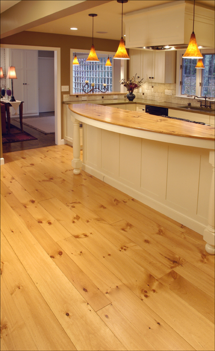 Classic Wide Plank Eastern White Pine Flooring Bingham