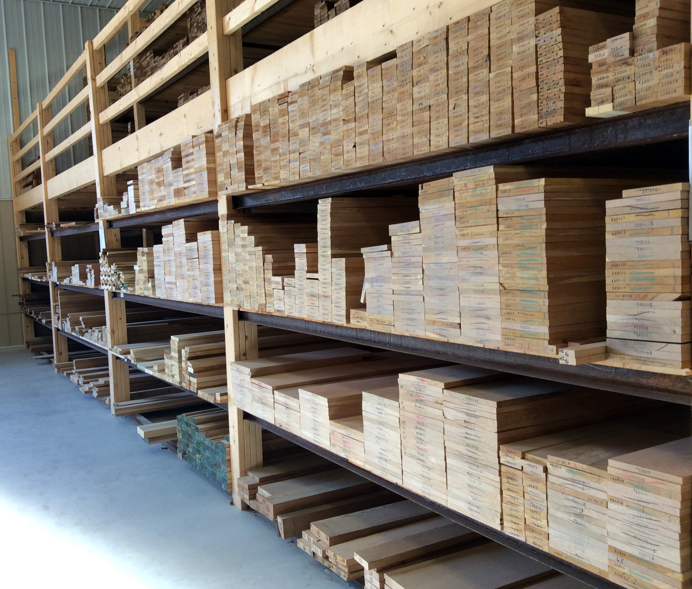 Fully Stocked with S4S Hardwood Boards